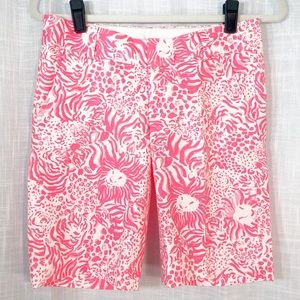 Lilly Pulitzer The Clipper Short Lion Leopard SZ 0